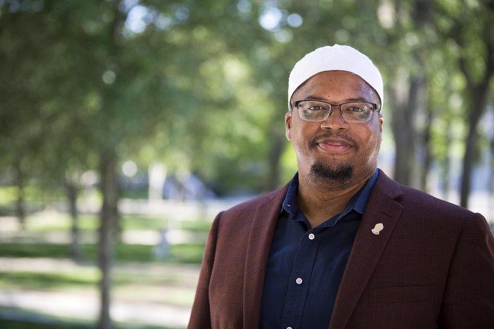 Khalil Abdur-Rashid, Muslim Chaplain to the University (Photo credit: Stephanie Mitchell)