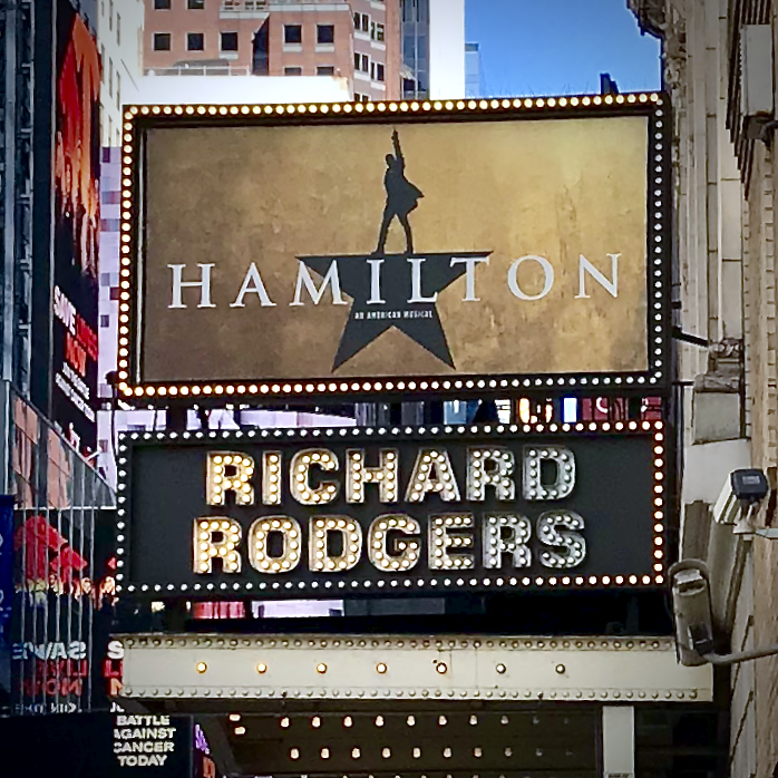 Hamilton the Musical at the Richard Rodgers Theater in New York City (Photo by Niki Lanter)