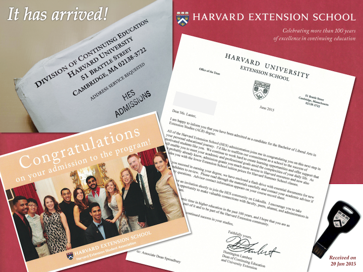 Mailbox Goodies (Harvard Admissions Packet)