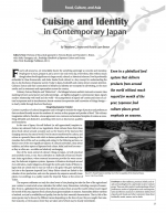 Cuisine and Identity in Contemporary Japan