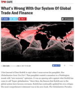 What's Wrong with Our System of Global Trade and Finance