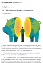 Put Globalization to Work for Democracies