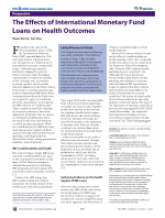 The Effects of International Monetary Fund Loans on Health Outcomes