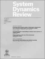 Estimating the parameters of system dynamics models using indirect inference
