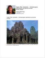 Angkor Wat, Cambodia -- Archaeological restorations and aerial surveys