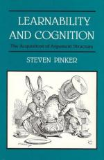 Learnability and Cognition: The Acquisition of Argument Structure