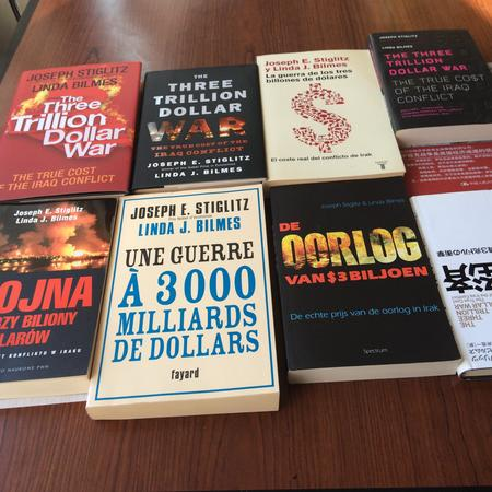 Three Trillion Dollar War has been translated into 42 languages worldwide!