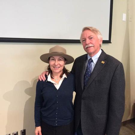 Being sworn in as an honorary National Park Ranger (with NPS Director Jon Jarvis) in November 2016