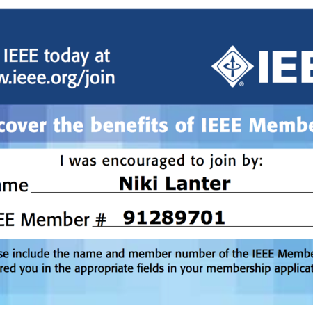 IEEE Membership Referral Card