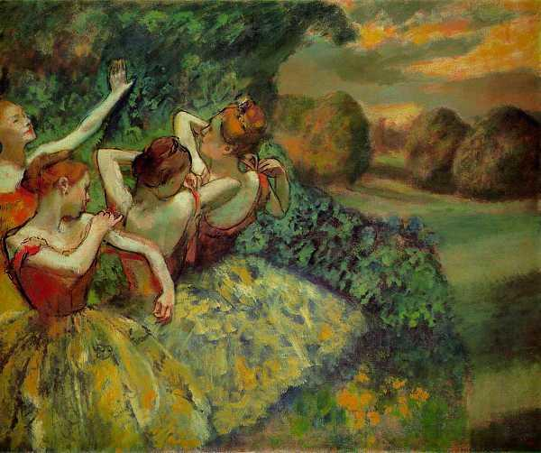 EDGAR DEGAS (1834-1917) 'Four Dancers', 1899 (oil on canvas)