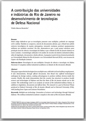 The contribution of universities and industries of the State of Rio de Janeiro in the development of National Defense technologies