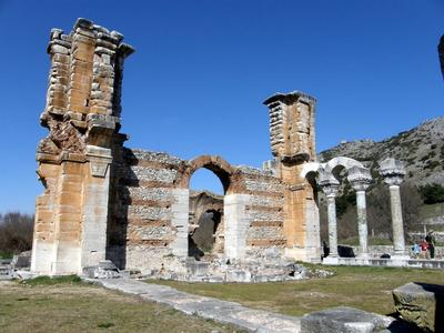 EARLY CHRISTIAN BASILICA, PHILIPPI, GREECE