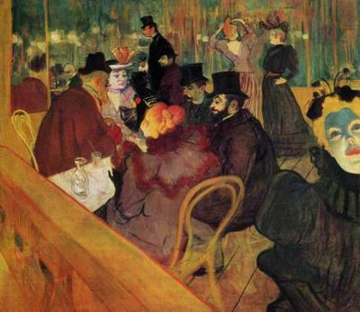 HENRI DE TOULOUSE-LAUTREC (1864-1901) 'At the Moulin Rouge', 1892-95 (oil on canvas)