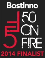 50 on Fire Finalist Badge