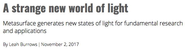 A strange new world of light