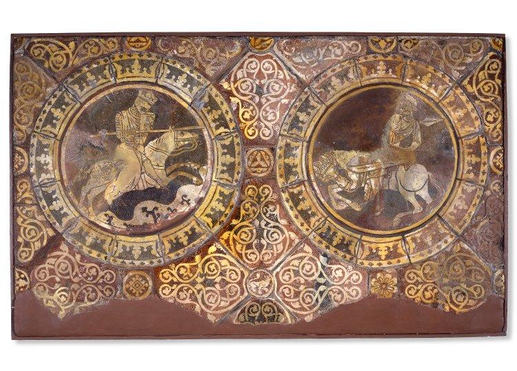 Richard and Saladin; Combat Series Chertsey tiles, Britsh Museum