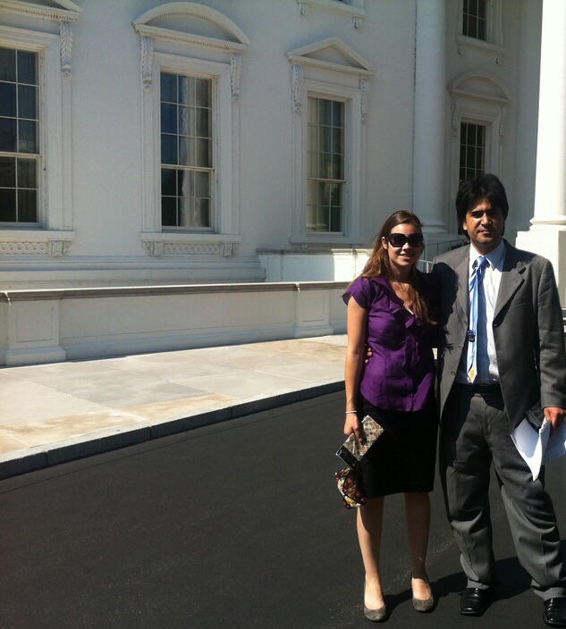 Dr. Rafizadeh in the White House