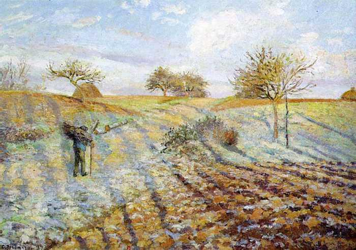 CAMILLE PISSARRO (1831-1903) 'Gelée Blanche - Hoarfrost', 1873 (oil on canvas)