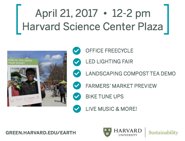 Harvard Celebrates Earth Day 2017 - Activities
