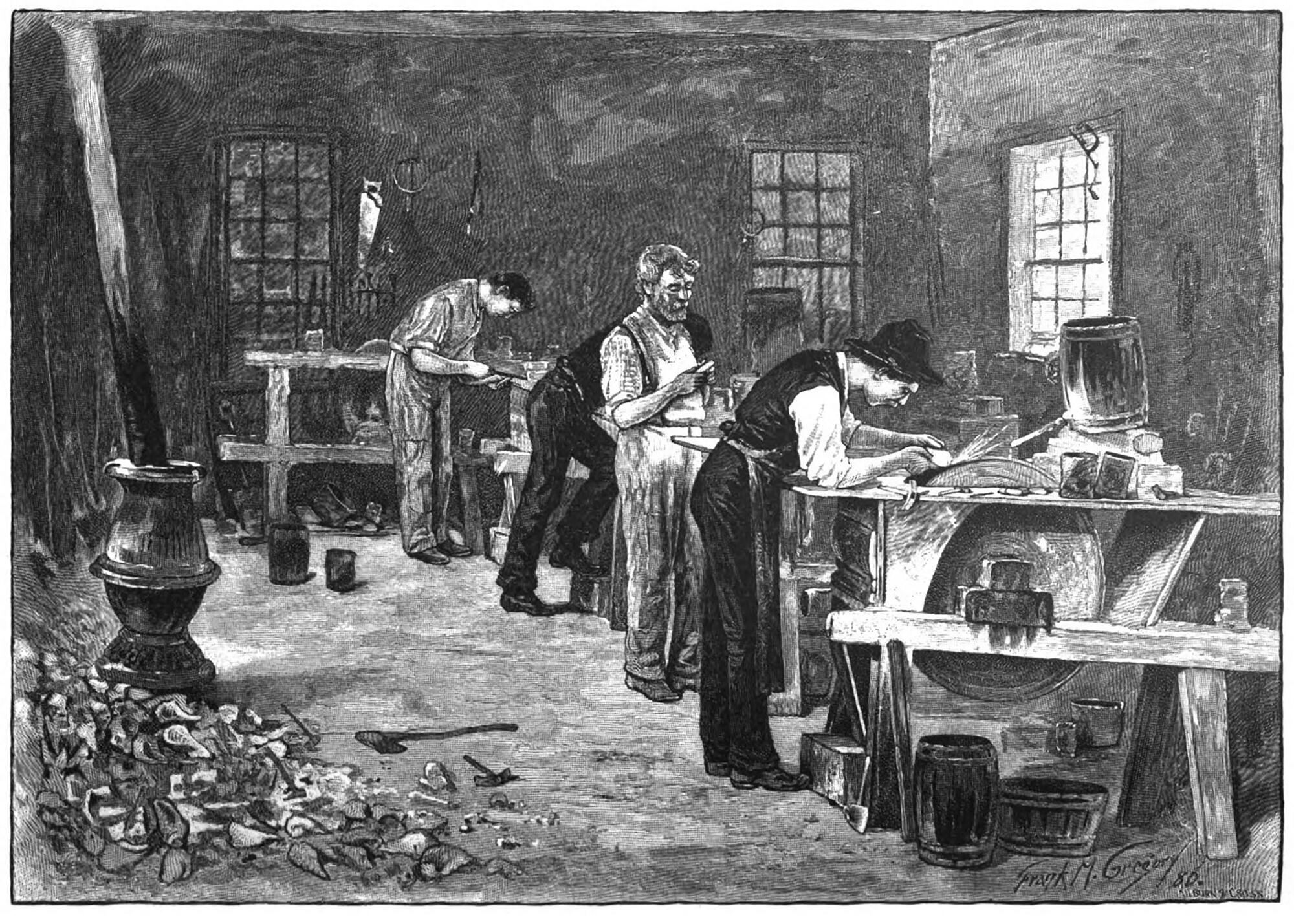 Campbell Factory Interior by Frank Gregory (1886)