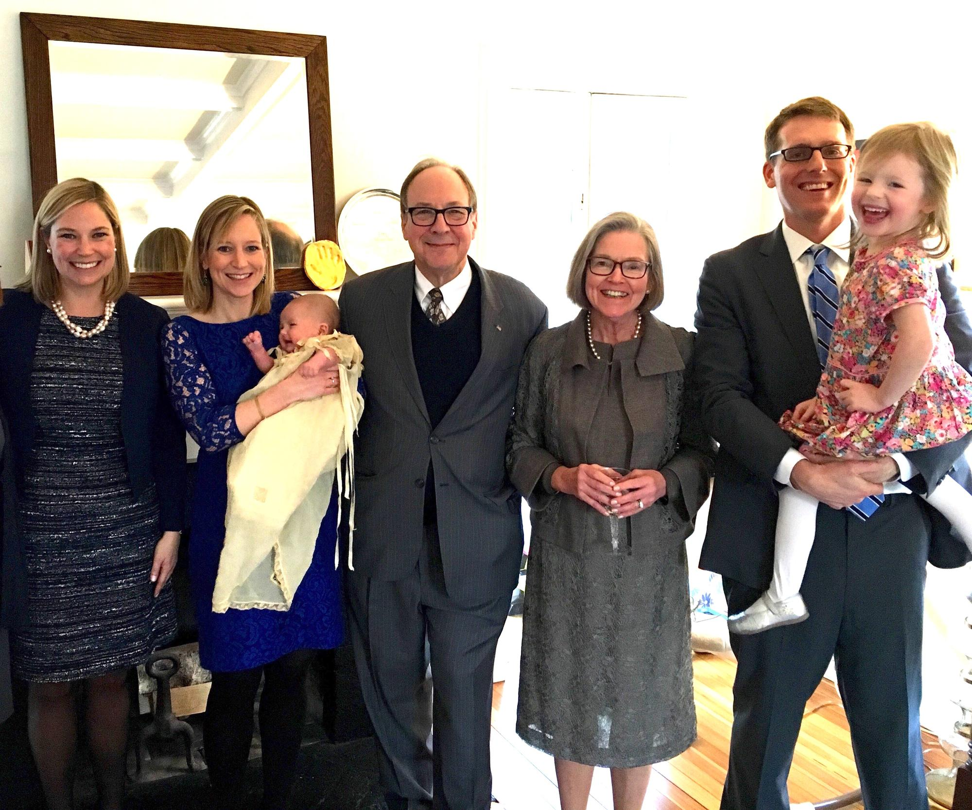 Lewis family at Stella's Christening