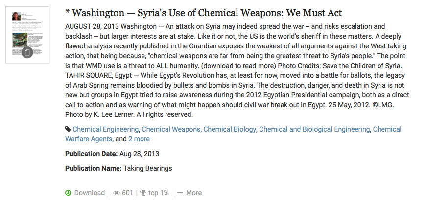 Syria use chemical weapons