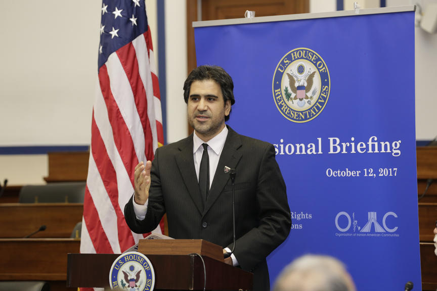 Dr. Majid Rafizadeh Speaking and Briefing in the United States Congress, House of Representatives