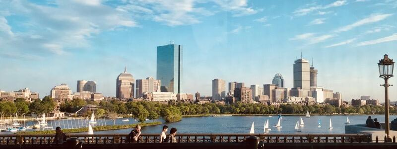 Beautiful Boston Skyline - View from the Red Line Train (Photo by Niki Lanter)