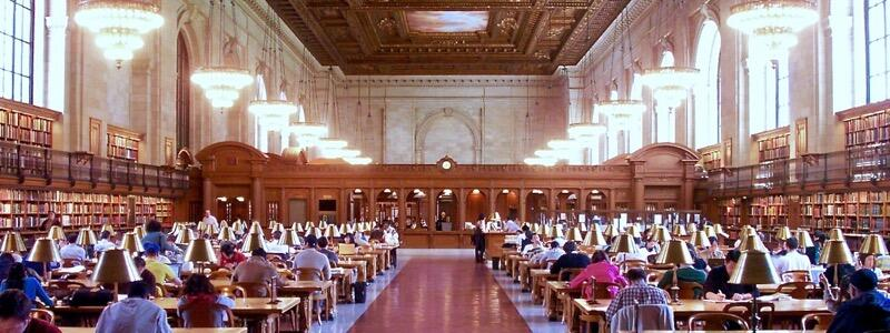 Quiet Time in the Rose Reading Room at the New York Public Library (Photo by Niki Lanter)
