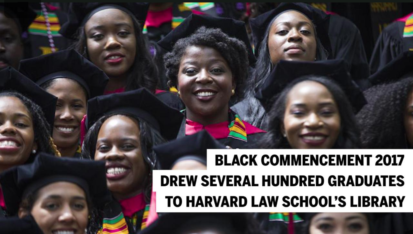 Harvard Black Commencement 2017 (Photo via Boston Globe)