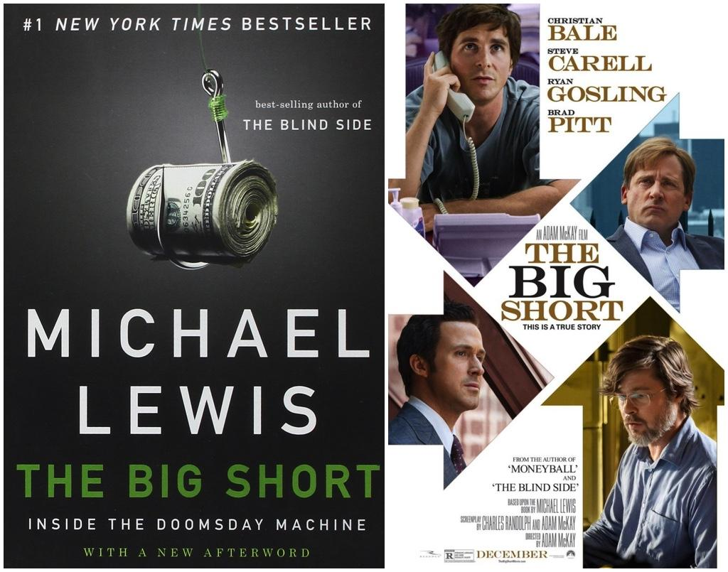 Michael Lewis The Big Short Book Movie Collage