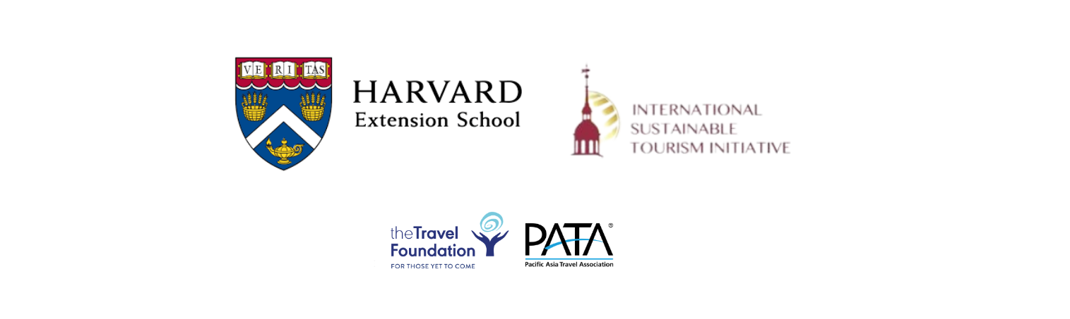 logos for harvard extension, isti, the travel foundation and pata