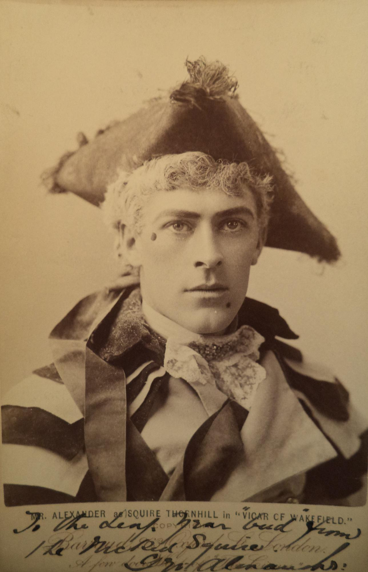 George Alexander from Harvard Theatre Collection
