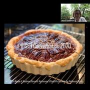 "Pecan Pie Logo for ""PRISEd Conversation 2020"" with photo of Dr. Goodman"