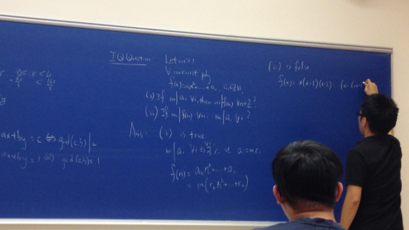 Teaching a number theory class at CUHK