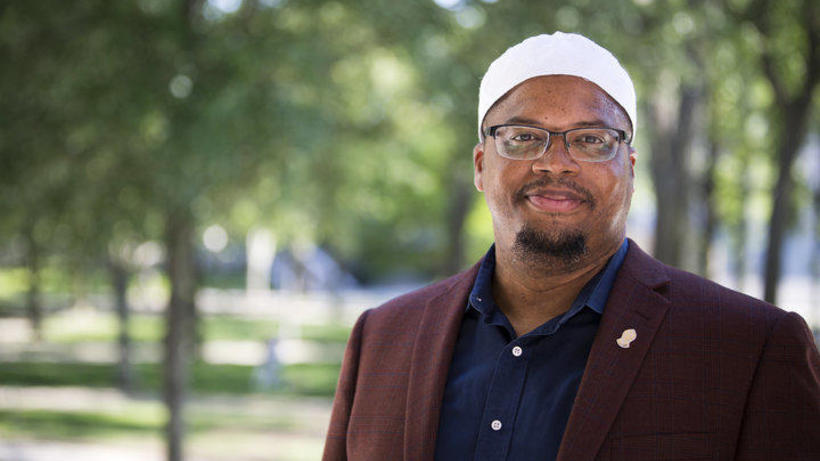 Khalil Abdur-Rashid, Muslim Chaplain to the University (Photo credit: Stephanie Mitchell)