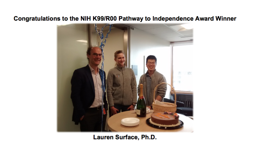 NIH K99/R00 Pathway to Independence Award_Lauren Surface