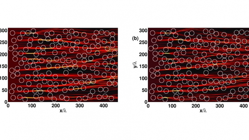 Branching flow in EM wave propagation through disordered networks of weak Luneburg lenses