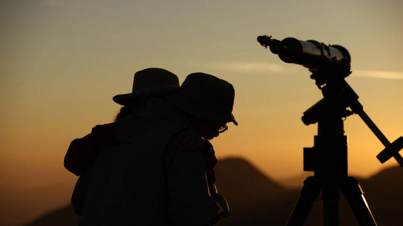 Transit of Venus engagement on Mt Wilson 5 June 2012
