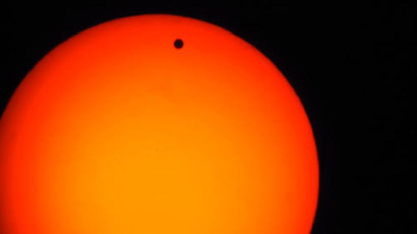 Transit of Venus, June 8, 2004 (photo taken at Harvard by Mario Motta)