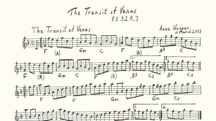 Transit of Venus sheet music