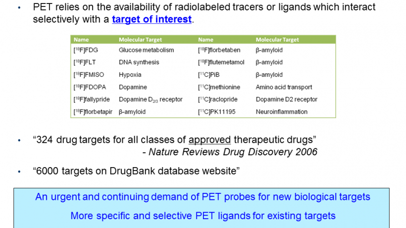 Lack of new PET biomarkers