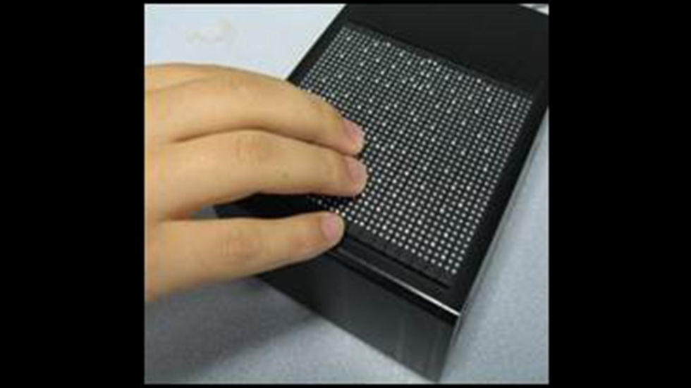 Tactile graphic and Braille display used in behavioral studies