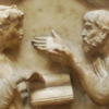 Platon and Aristotle debating (Florence)
