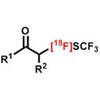 Preparation of 18F-Labeled α-SCF3 Carbonyl Compounds